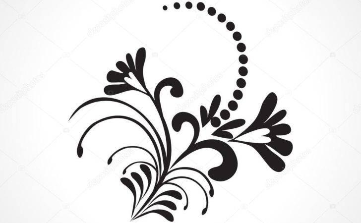 Vector Beautiful Design Black Tattoo