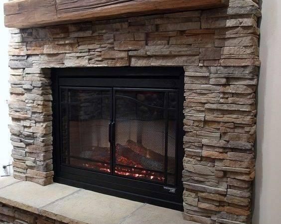 Veneer Brick Backsplash Next Faux Stone Fireplace Alongside