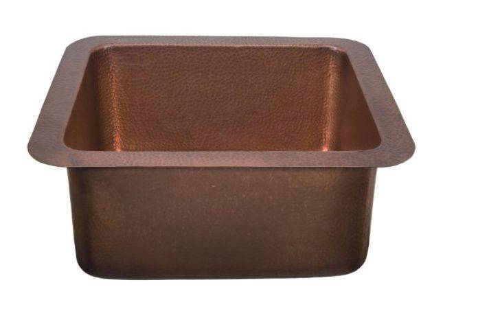 Vernazza Antique Copper Small Kitchen Large Prep Sink