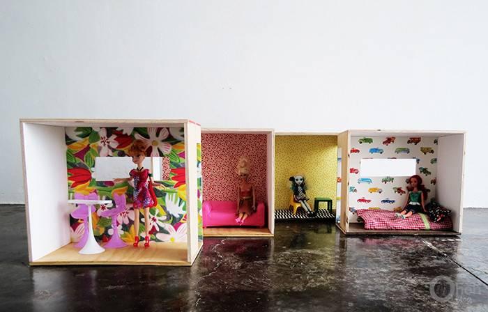 Versatile Easy Make Diy Barbie Dollhouse Shelterness