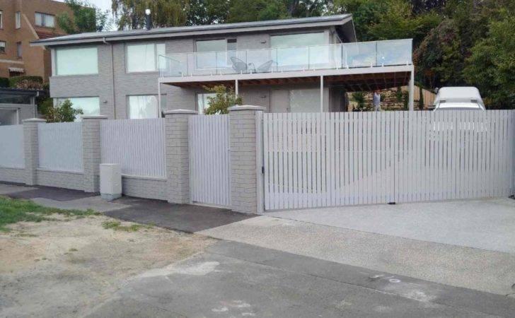 Vertical Aluminium Slat Fencing Fence Gate Supplies