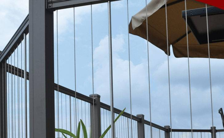 Vertical Cable Infill Railing System Key Link Fencing