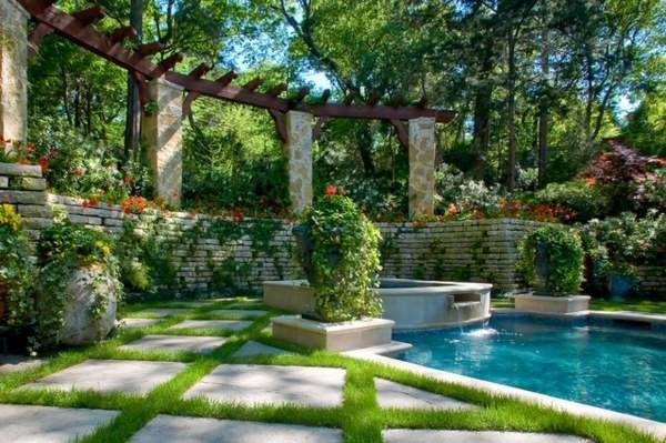 Vertical Garden Next Swimming Pool Brings More