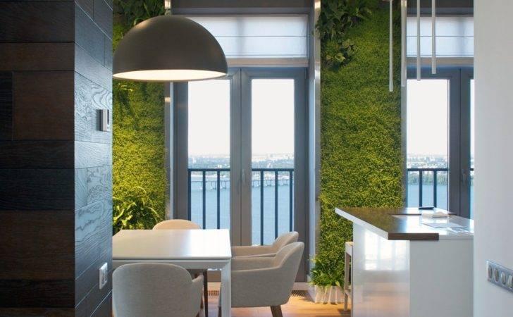 Vertical Garden Walls Add Life Apartment Interior