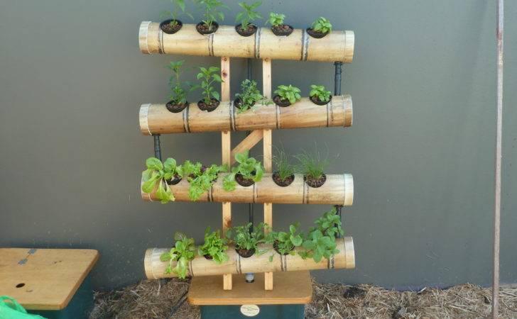 Vertical Gardening Systems Bamboo Balcony Gardens Dirt Digging