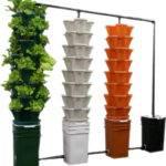 Vertical Hydroponic Recirculating System Pots Planters