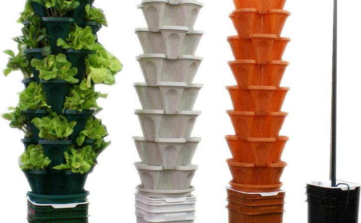 Vertical Hydroponic Recirculating System Pots Planters