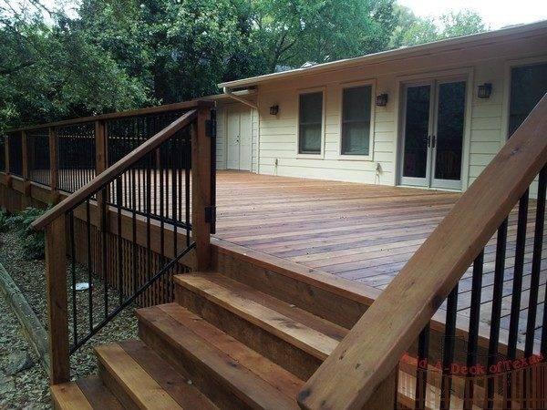 Vertical Powder Coated Railing Add Deck Texas