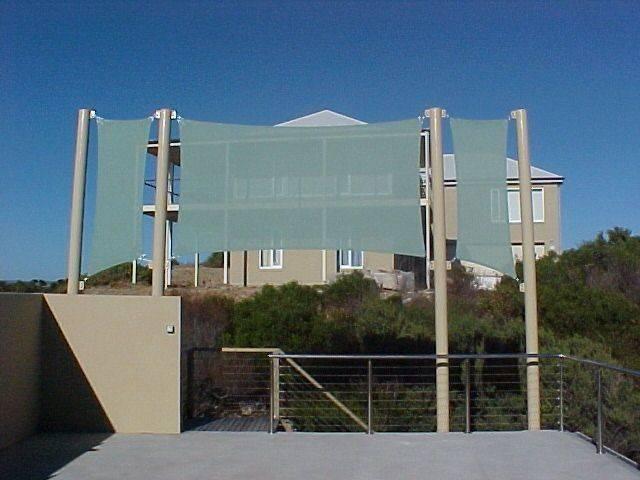 Vertical Shade Sails Home Exterior Yard Pinterest