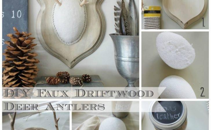 Very Cool Diy Faux Driftwood Deer Antlers Jennifer Rizzo