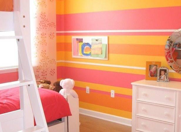 Vibrant Cheerful Room Orange Pink Girls Bedrooms