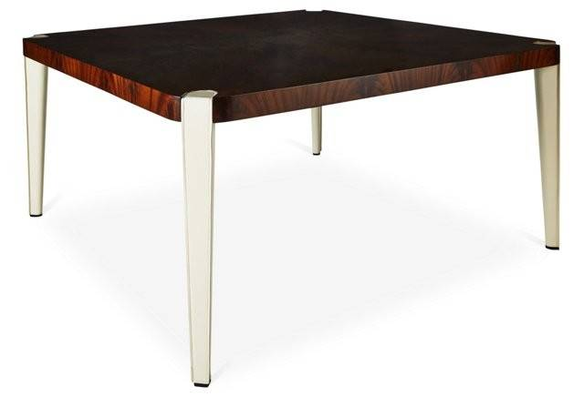 Victor Square Leather Dining Table One Kings Lane
