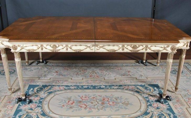 Victor Used Newport Leg Walnut Dining Table