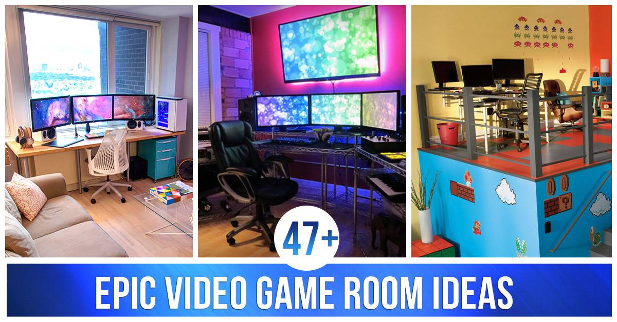 Video Game Room Ideas Homebnc Share Facebook
