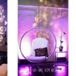 Vie Rose Design White Marshmellow Sofa Hanging Bubble Chair Purple