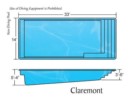 Viking Rectangle Claremont Pool Design Installation Caribbean Pools