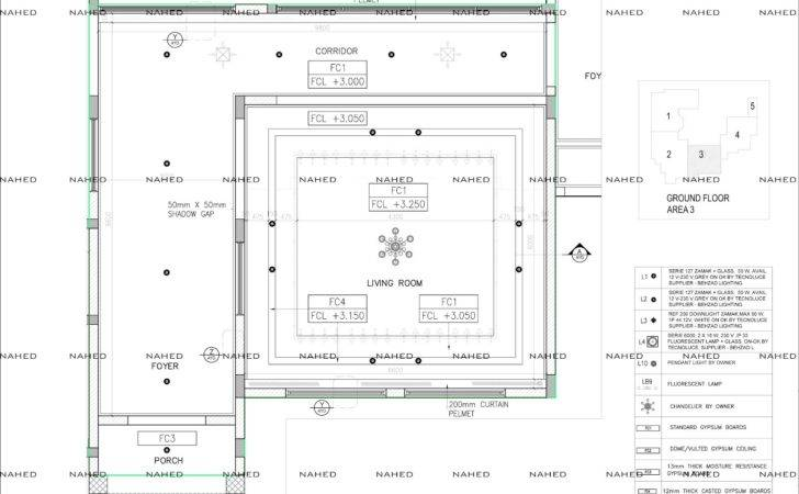 Villa Ceiling Setout Layout Detail Working Drawing Nahed