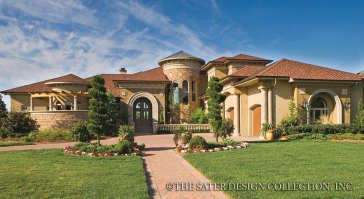 Villa Sabina House Plan Tuscan Homes Plans Villas