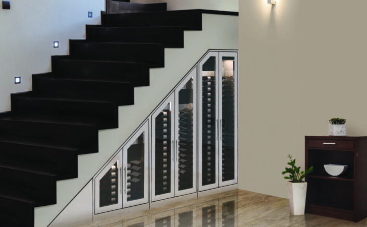 Vinotemp Showcases Modular Under Stairs Wine Cabinet Solutions
