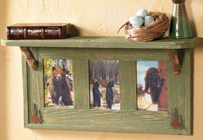 Vintage Black Bears Wall Shelf Reclaimed Furniture Design Ideas