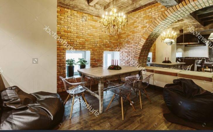 Vintage Cafe Interior Design Modern Loft Brick
