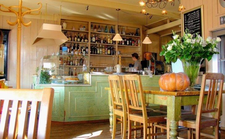 Vintage Cafe Interior Design Retro Coffee Seamless