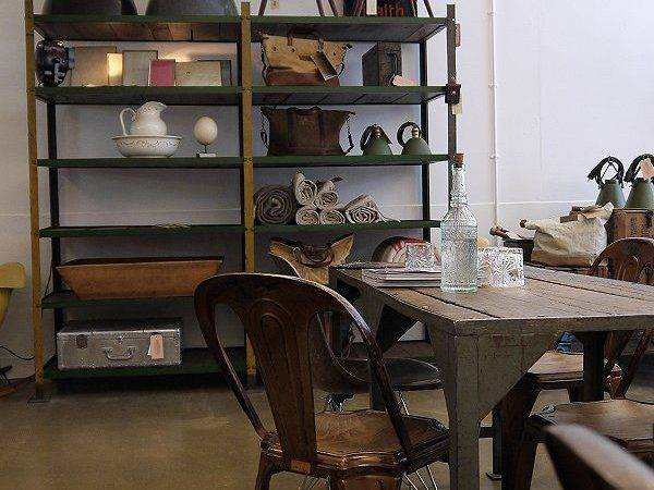 Vintage Cafe Interior Wood Table Chairs Founterior