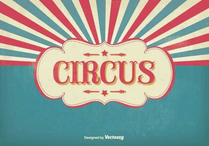 Vintage Circus Illustration Vector Art Graphics