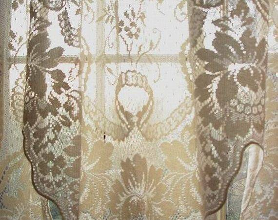 Vintage Cotton Lace Curtain Swagreserved