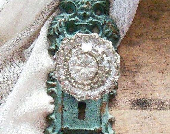 Vintage Crystal Door Knob Curtain Tie Back Eviemethugh Etsy