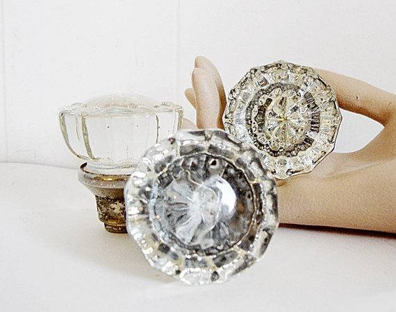 Vintage Crystal Door Knobs Group