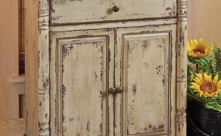 Vintage Farmhouse Cor Aged Tan Cabinet Drawer