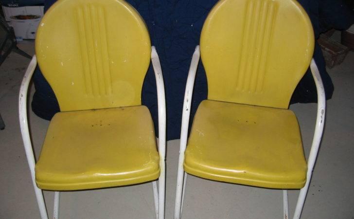 Vintage Green Metal Bouncy Chair Yellow Ones Toronto Trashures