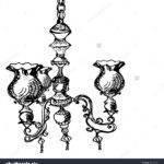 Vintage Hand Draw Chandelier Sketch Vector Illustration