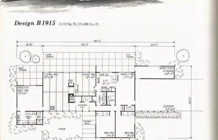 Vintage House Plans Mid Century Contemporary