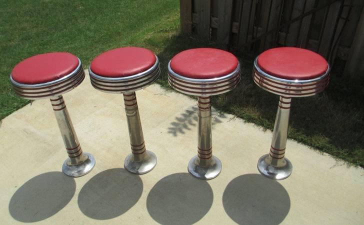 Vintage Ice Cream Parlor Soda Fountain Stools