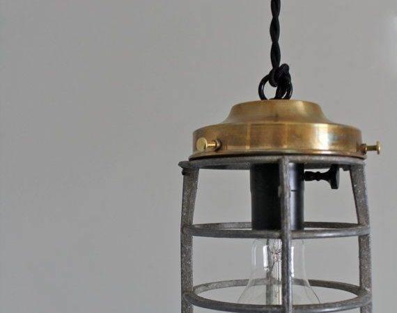 Vintage Industrial Repurposed Explosion Proof Cage Scandalaskan