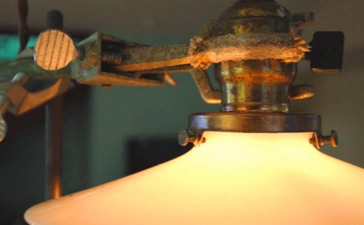 Vintage Industrial Repurposed Milk Shade Californiarediscover