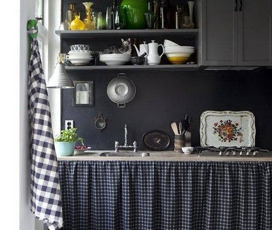 Vintage Interior Design Black Kitchen