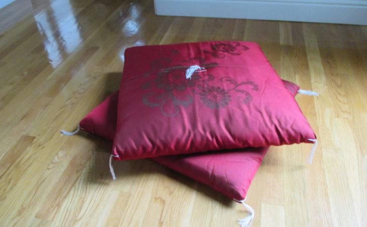 Vintage Japanese Floor Cushion Set Two Aprilleialoha