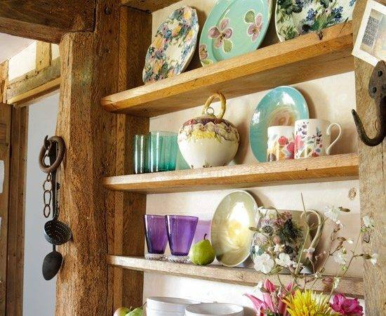 Vintage Kitchen Display Storage Decorating Ideas Shelving