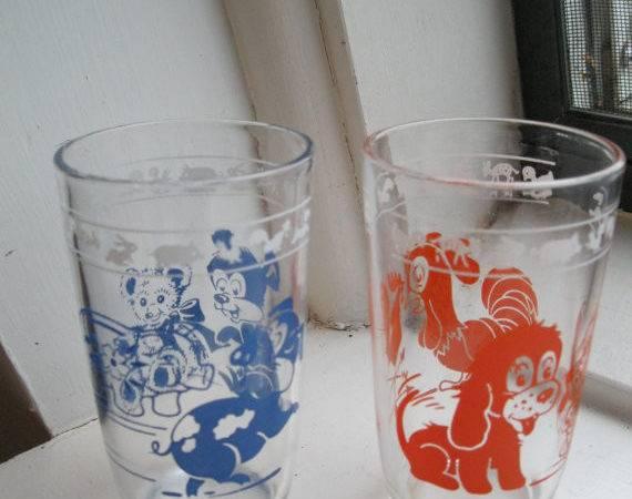 Vintage Kraft Swanky Swigs Glasses