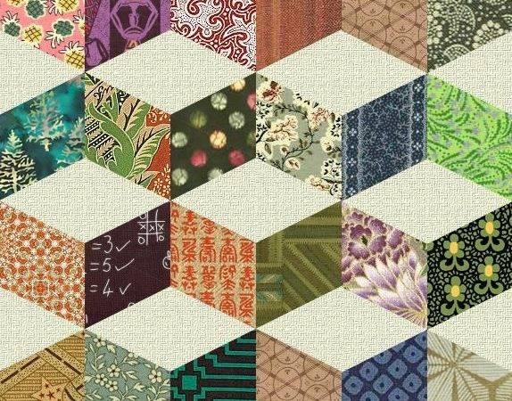 Vintage Quilt Patterns Shifting Cubes Necker Cube