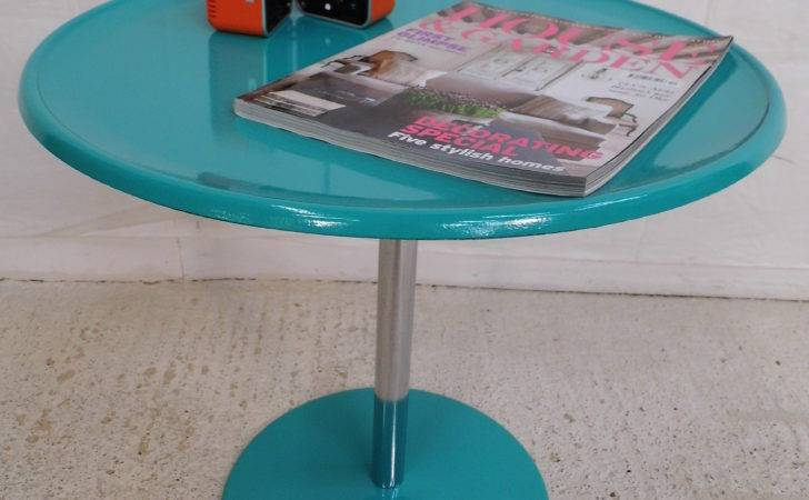 Vintage Retro Alan Turnville Kompass Side Table Made Using Resin