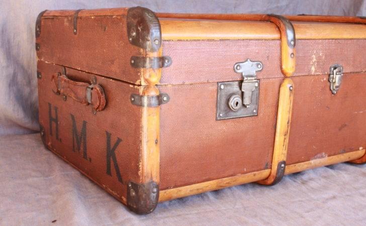 Vintage Steamer Trunk Cavender Diary