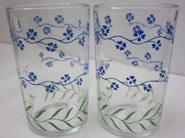 Vintage Swanky Swig Juice Tumblers Glass Glasses