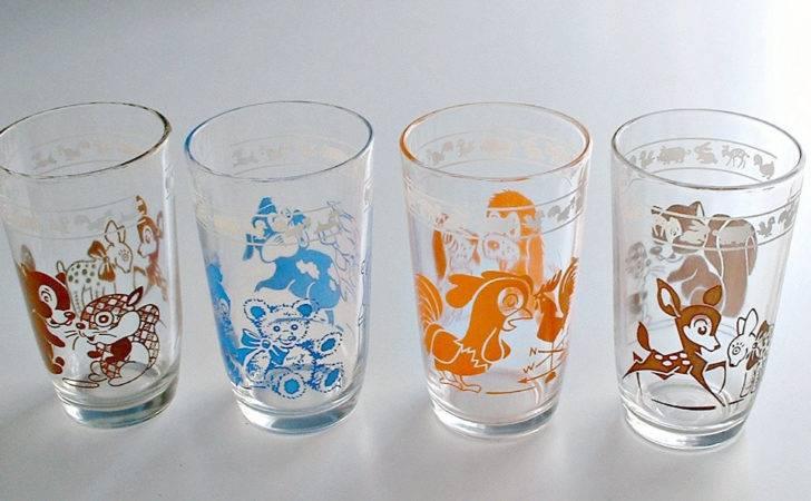 Vintage Swanky Swigs Children Juice Glasses Animal Pals