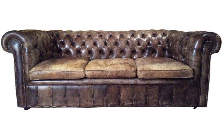 Vintage Tufted Leather Chesterfield Sofa Stdibs