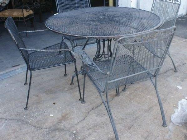 Vintage Woodard Wrought Iron Patio Furniture Lot