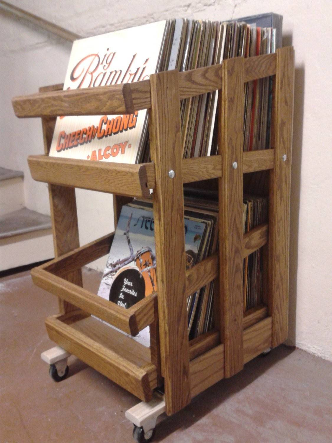 Vinyl Record Cabinet Drawer Slide